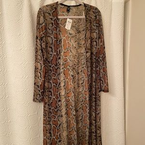 New with tags snakeskin duster